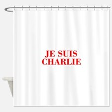 Je suis Charlie-Bod red Shower Curtain