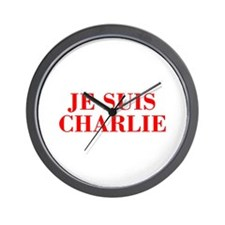 Je suis Charlie-Bod red Wall Clock