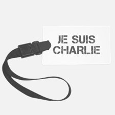Je suis Charlie-Cap gray Luggage Tag