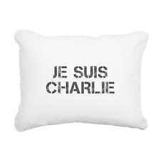 Je suis Charlie-Cap gray Rectangular Canvas Pillow