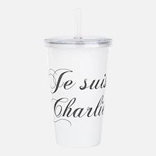 Je suis Charlie-Cho gray Acrylic Double-wall Tumbl