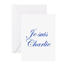 Je suis Charlie-Edw blue Greeting Cards