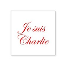 Je suis Charlie-Edw red Sticker
