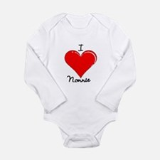 Funny I heart my nana Long Sleeve Infant Bodysuit