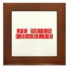 Je suis Charlie-Fle red Framed Tile