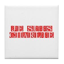 Je suis Charlie-Fle red Tile Coaster