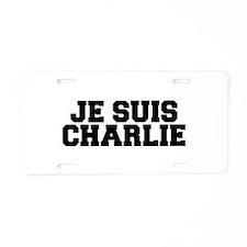 Je suis Charlie-Fre black Aluminum License Plate