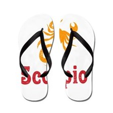 Scorpio Light Zodiac Vintage Flip Flops