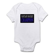 """Fantasy Hockey Champion"" Infant Bodysuit"