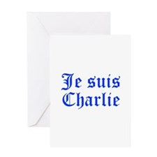 Je suis Charlie-Old blue Greeting Cards