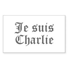 Je suis Charlie-Old gray Decal