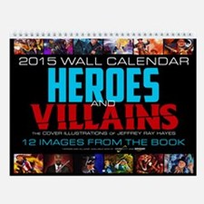 "2015 ""Heroes And Villains"" Wall Calendar"