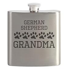 German Shepherd Grandma Flask