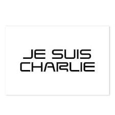 Je suis Charlie-Sav black Postcards (Package of 8)
