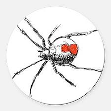 Redback Spider Round Car Magnet