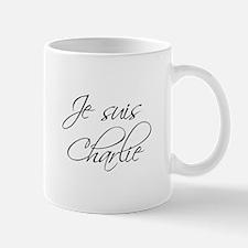 Je suis Charlie-Scr black Mugs
