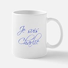 Je suis Charlie-Scr blue Mugs