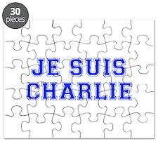 Je suis Charlie-Var blue Puzzle