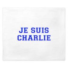 Je suis Charlie-Var blue King Duvet