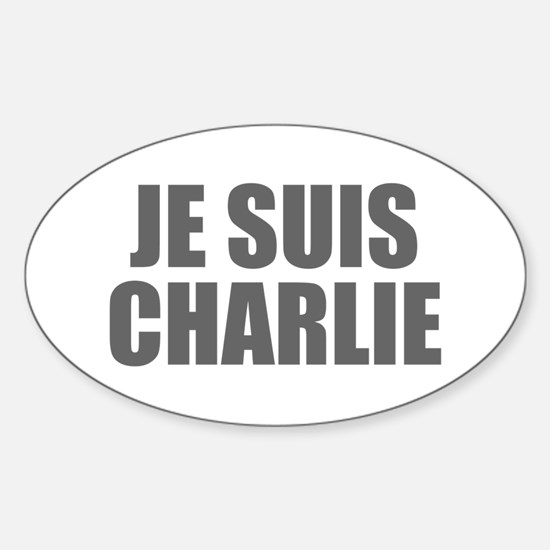 Je suis Charlie-Imp gray Decal