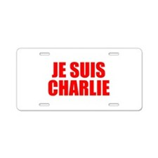 Je suis Charlie-Imp red Aluminum License Plate