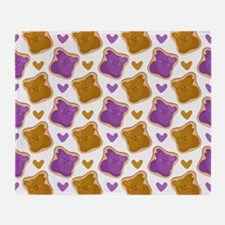 Kawaii PBJ Pattern Throw Blanket