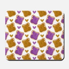 Kawaii PBJ Pattern Mousepad