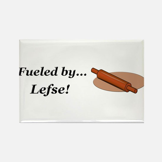 Fueled by Lefse Rectangle Magnet