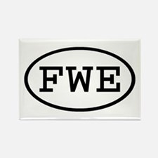FWE Oval Rectangle Magnet