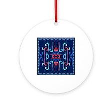 Elegant Streamers Ornament (Round)