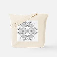 Leaves and Whirls Zen Mandala Tote Bag