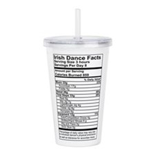 Irish Dance Facts Cup Acrylic Double-Wall Tumbler