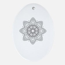 Funny Coloring book Oval Ornament
