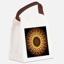 del Sol Mandala Canvas Lunch Bag
