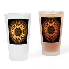del Sol Mandala Drinking Glass