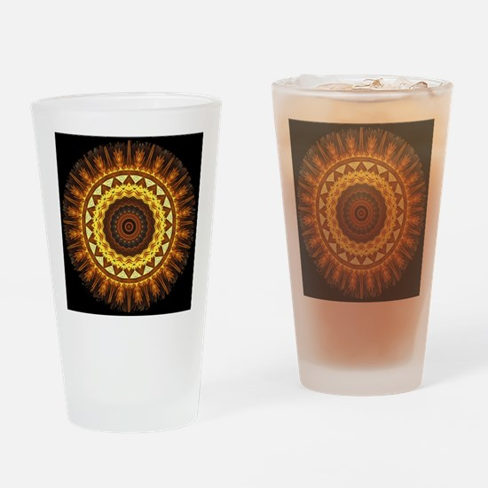 del Sol Mandala Drinking Glass