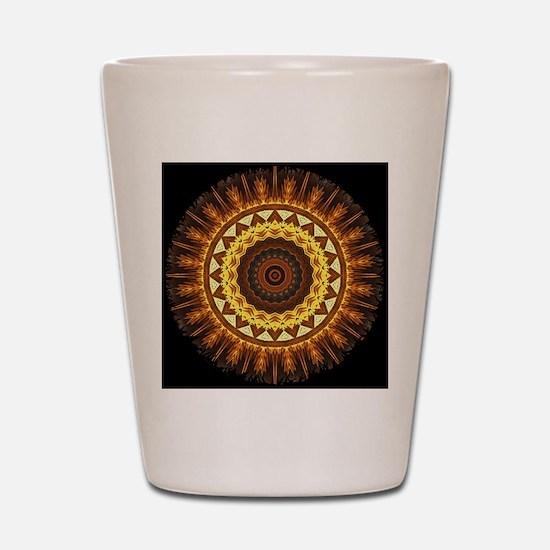 del Sol Mandala Shot Glass