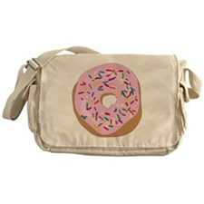 Pink Donut with Sprinkles Messenger Bag