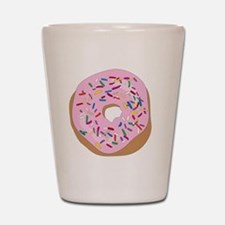 Pink Donut with Sprinkles Shot Glass