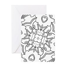 Funny Coloring book Greeting Card