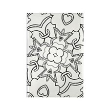 Funny Coloring book Rectangle Magnet