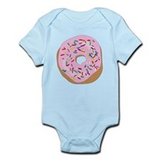 Pink Donut with Sprinkles Body Suit