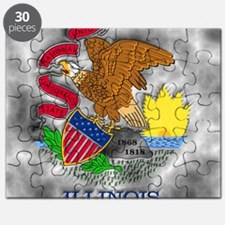 Illinois State Flag Puzzle