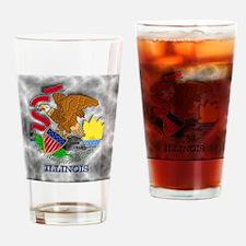 Illinois State Flag Drinking Glass