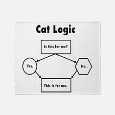 Cat Logic Throw Blanket