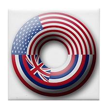 USA - Hawaii Flag Donut Tile Coaster
