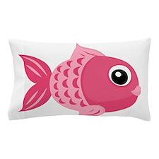 Pink Fish Pillow Case