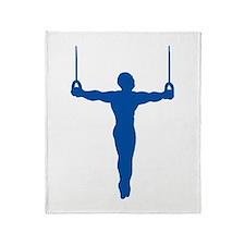 Rings Gymnast Throw Blanket