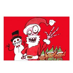 Happy Horrordays: The Postcards (Package of 8)