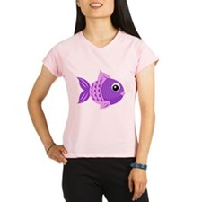 Purple Fish Performance Dry T-Shirt